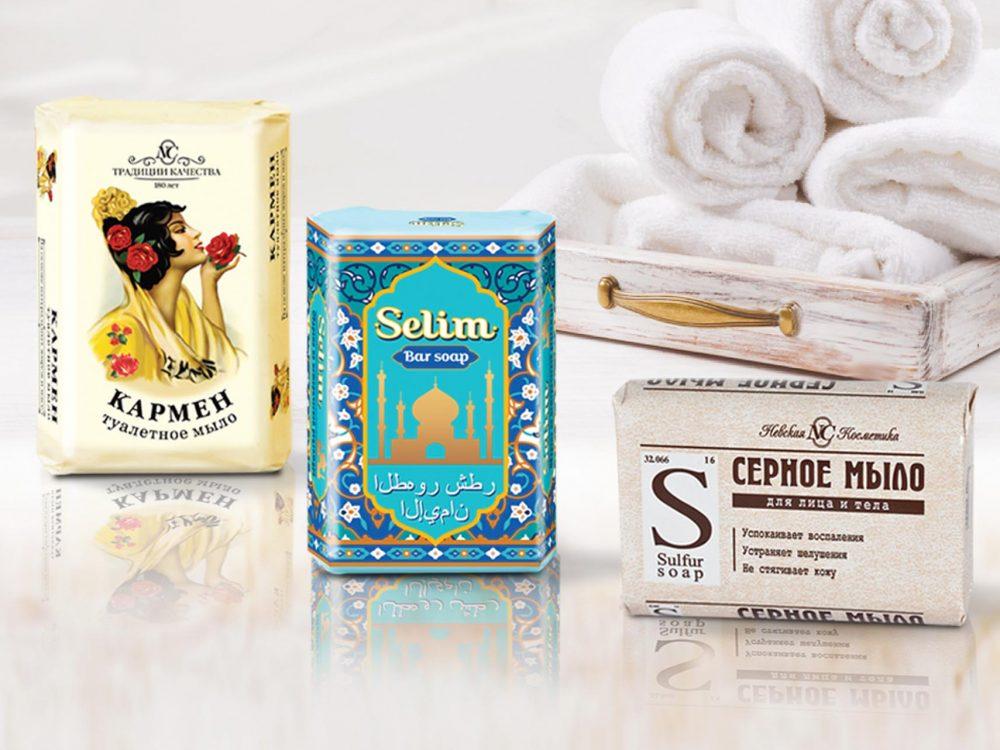 Дизайн упаковки мыла для Невской косметики