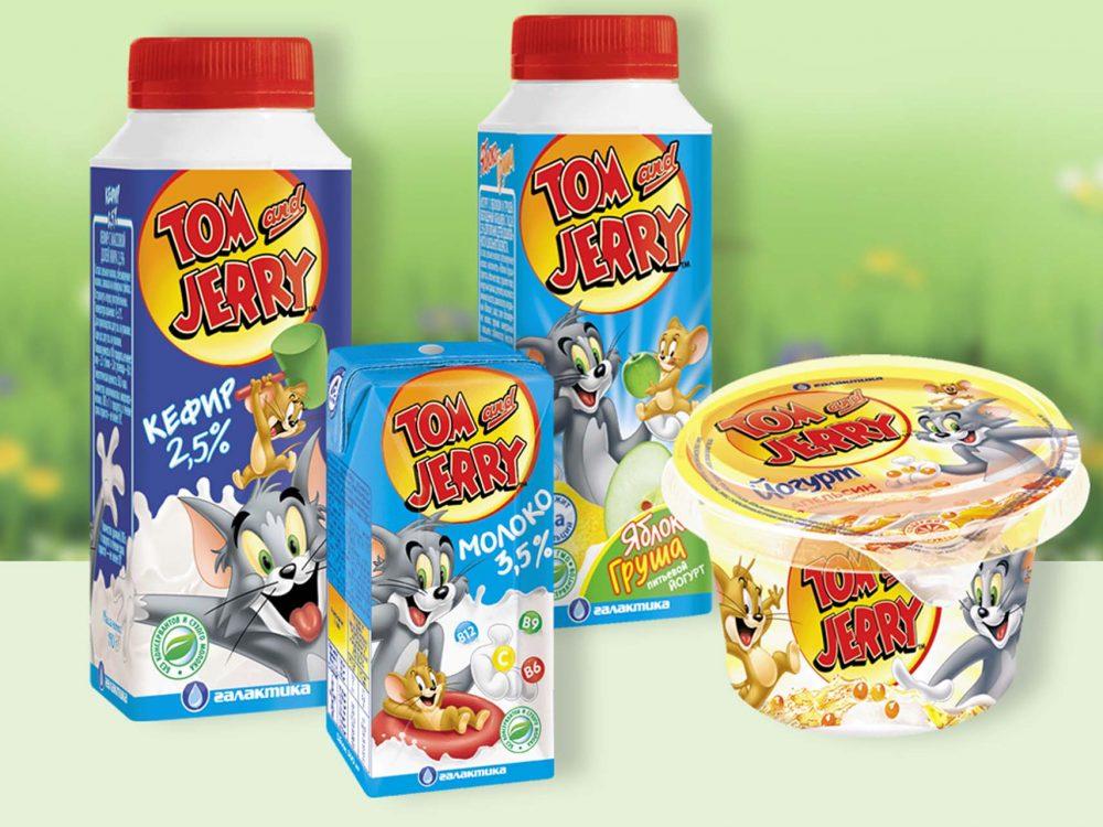 Адаптация дизайна упаковки франшиза Том и Джерри (Галактика)