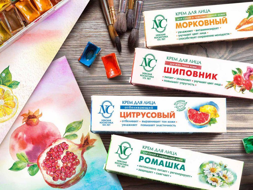 Дизайн упаковки для Невской косметики