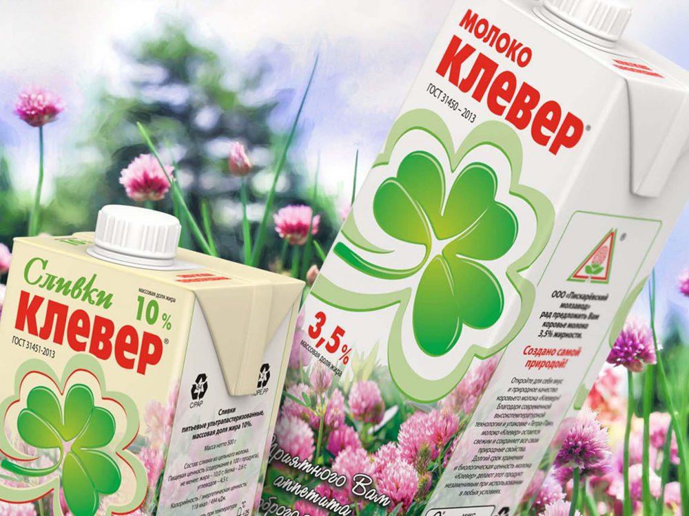 Дизайн упаковки для сливок Пискаревский