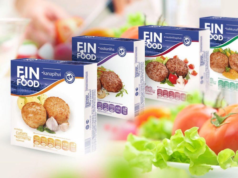 Дизайн упаковки Fin Food (Талосто)